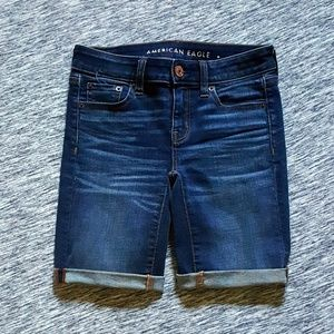 American Eagle Super Stretch Skinny Bermuda Shorts